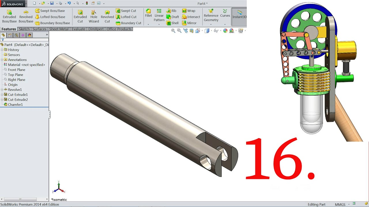 maxresdefault solidworks tutorial vertical stirling engine 16 piston rod youtube
