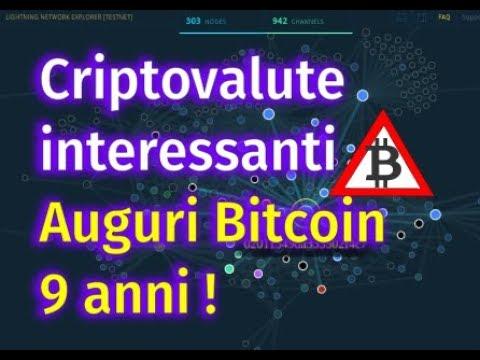 TOP 10+ criptovalute da tenere d'occhio per il 2018 e Auguri Bitcoin 9 anni!
