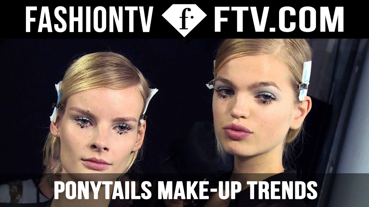 ponytails hair trends spring summer 2015 fashiontv youtube