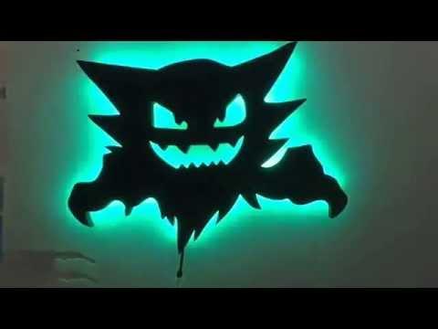 & Haunter Pokemon led nightlight wall art - YouTube