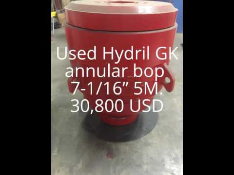 Used Hydril GK Annular Bop 7 1 16 5M 30 800 USD