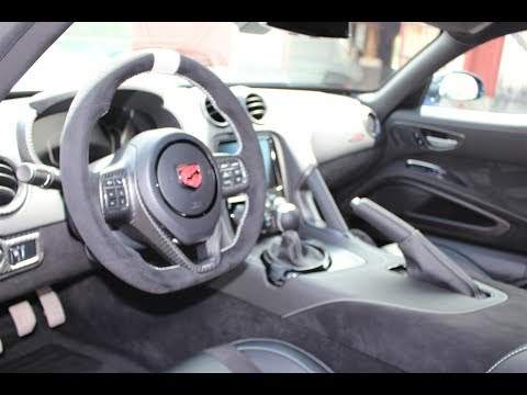 In Depth Review of the INTERIOR Of My Supercar 2017 Dodge Viper ACR Extreme