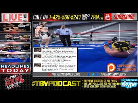 McGregor vs Malignaggi Sparring Leaked, Mayweather vs McGregor Media Day Fallout