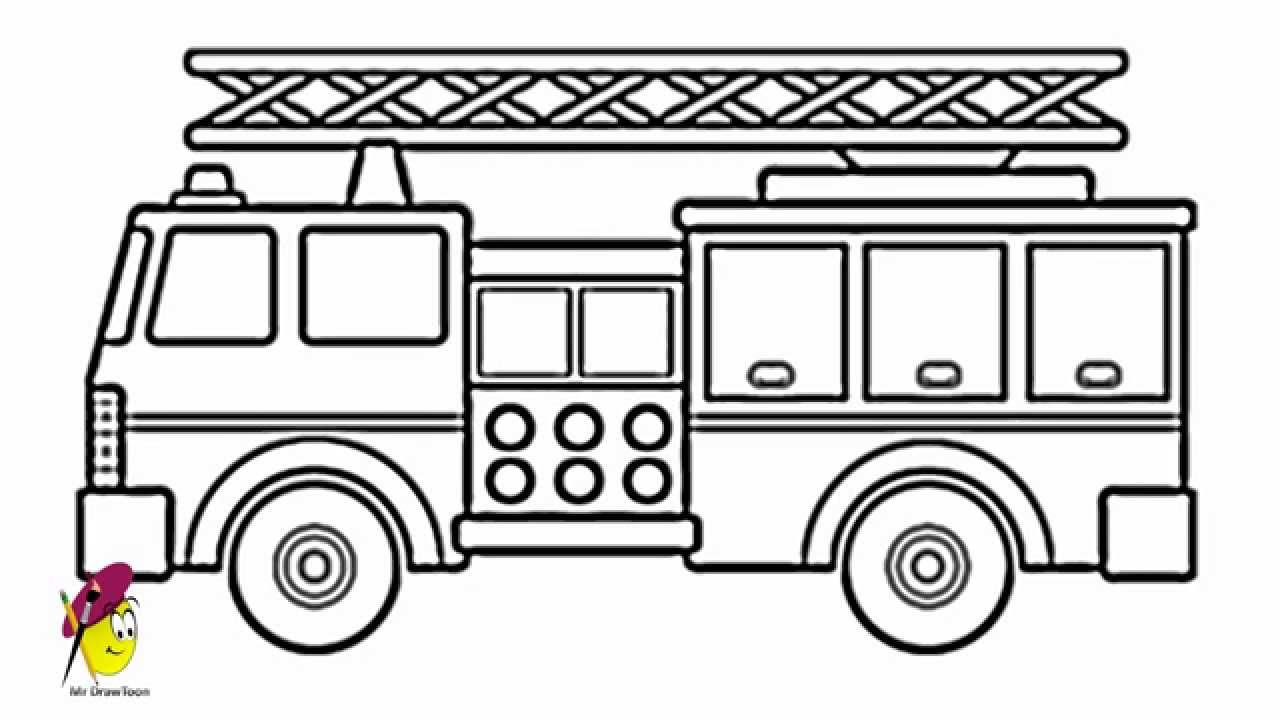 Uncategorized Easy To Draw Truck fire truck how to draw a youtube