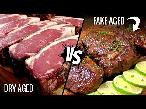 Sous Vide DRY AGED STEAK vs FAKE AGED which is better!?