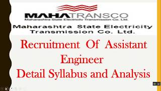 MSEB Assistant Engineer (Electrical & Civil ) - Syllabus Analysis and Preparation Strategy.