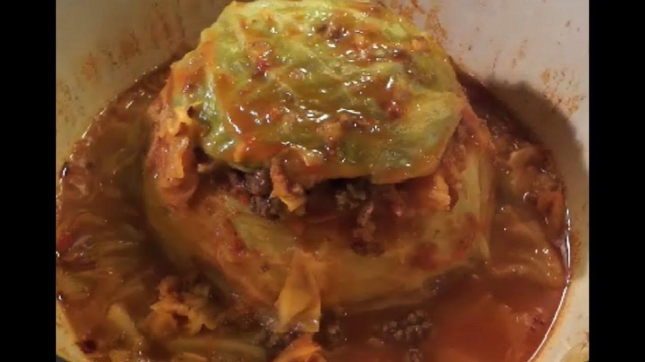 Como hacer repollo relleno how to make stuffed cabbage for Como preparar repollo