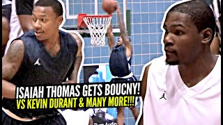 Kevin Durant vs 5'8 Isaiah Thomas CRAZY Pick Up Game!! IT Starts DUNKING & Catching Oops vs KD!!