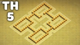 Town Hall 5 War Base ⏺ Clash of Clans (CoC TH5)