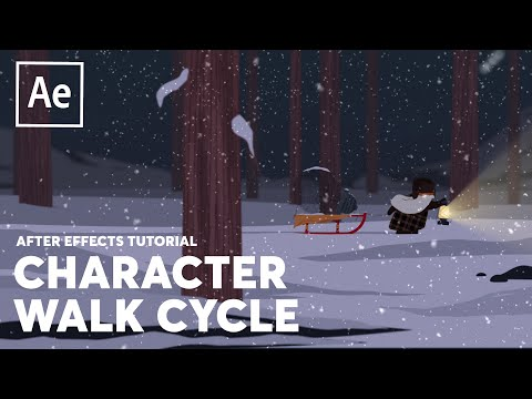 Simple Character Walk Cycle - After Effects Tutorial