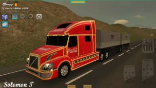 Grand Truck Simulator - Coca Cola Volvo VNL + Double Trailer Job