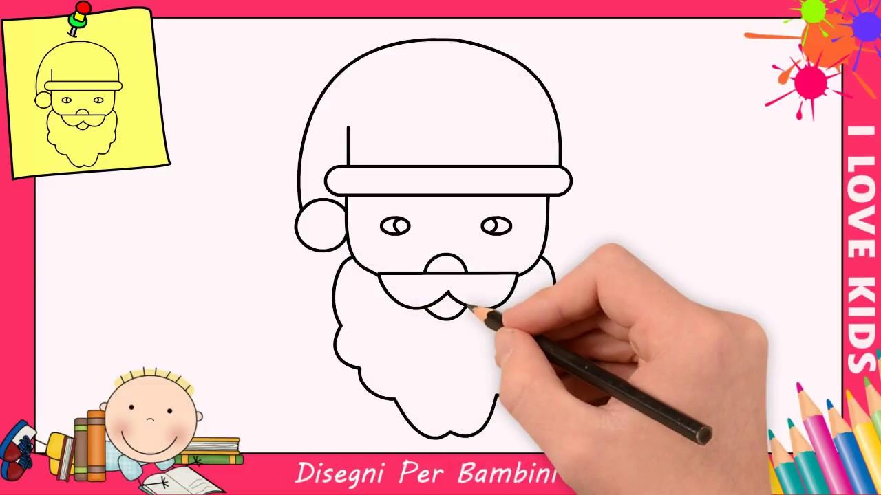 Come Disegnare Babbo Natale Facile Passo Per Passo Per Bambini 2