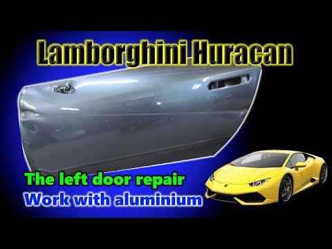 The door repair of Lamborghini Huracan. Ремонт двери от Ломбаргини Хуракан