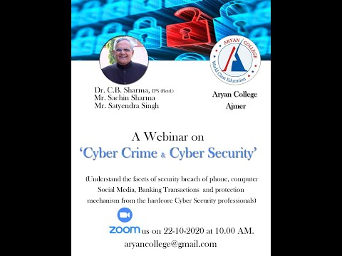 Overview of Cyber Crime & Cyber Security Definition Terminology Cyber Offences & Indian IT Act