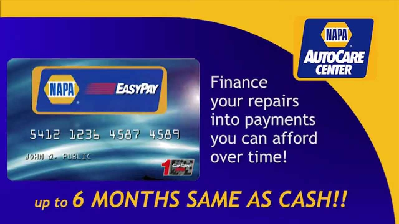 NAPA AutoCare Atlanta EasyPay Interest Free Financing Webvideo - 6 months same as cash financing