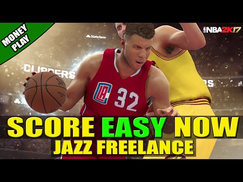 HOW TO SCORE EASY -  BEST FREELANCE (JAZZ MOTION) - POST UP OFFENSE | NBA 2K17 |