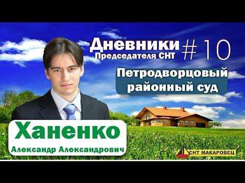 Дневники Председателя СНТ Выпуск 10 - Петродворцовый районный суд