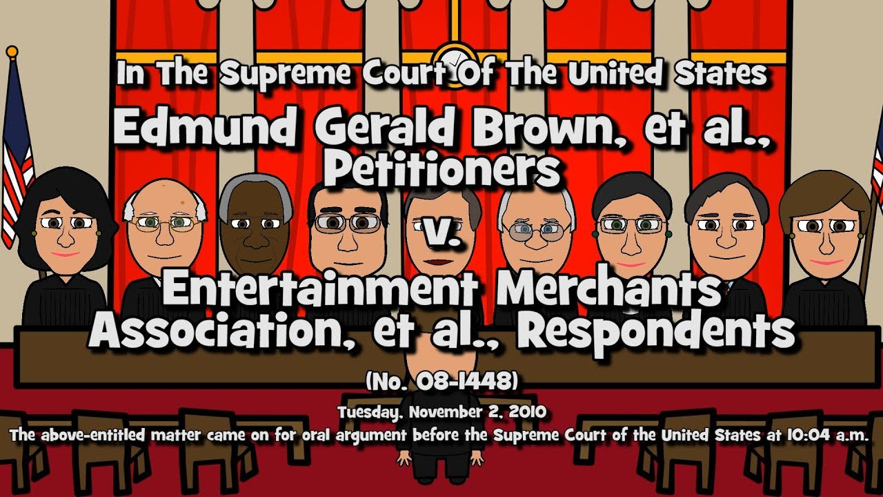 Brown v  Entertainment Merchants Ass'n (SCOTUS-Toons)