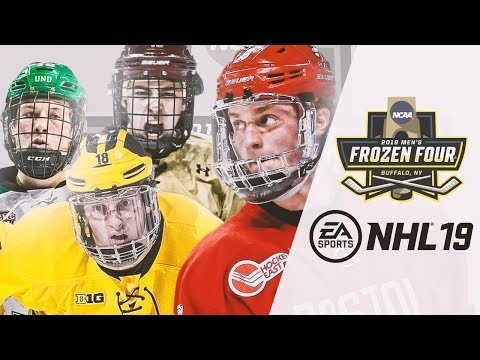 NCAA COLLEGE HOCKEY In NHL 19 - FROZEN FOUR