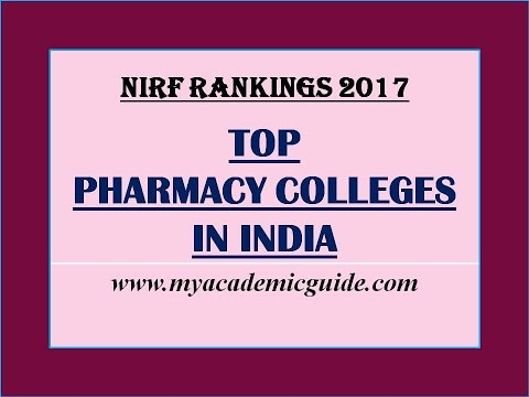 Top 25 Best Pharmacy Colleges in India - 2017 Rankings