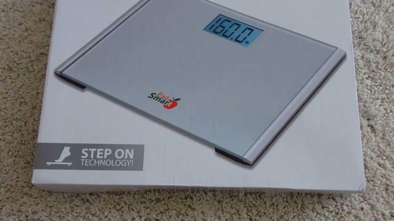 Eat Smart Precision Plus Bathroom Scale Unboxing - YouTube