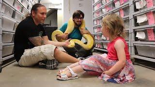 Little Girl Loves My Burmese Python Sunshine!! | BRIAN BARCZYK