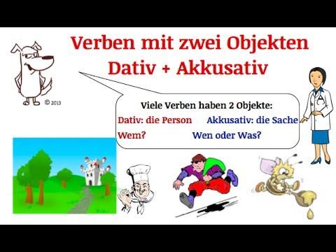 german grammar verben mit dativ und akkusativ verben mit zwei objekten teil 4 youtube. Black Bedroom Furniture Sets. Home Design Ideas