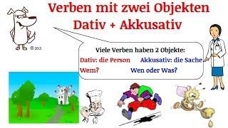 german grammar verben mit dativ und akkusativ   verben mit zwei objekten   teil 4