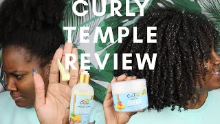 CURLY TEMPLE REVIEW | WASH & GO | TYPE 4 HAIR