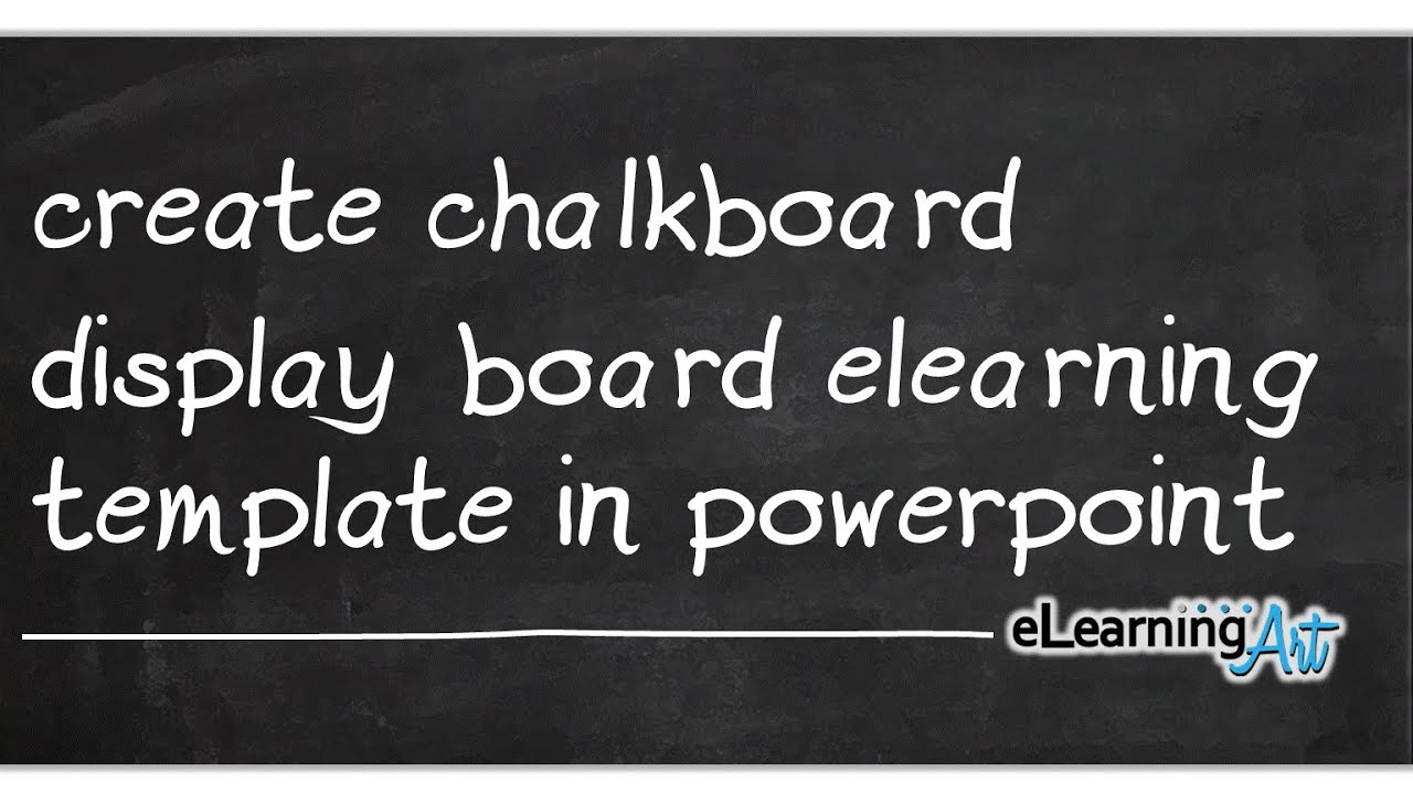 create chalkboard display board elearning template in powerpoint youtube. Black Bedroom Furniture Sets. Home Design Ideas