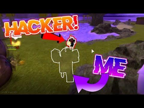INVISIBILITY VS HACKER!! SPELL WARS! (Roblox Booga Booga)