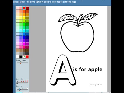 Alphabet Letter A Coloring Games