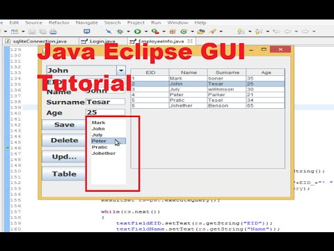 Java Eclipse GUI Tutorial 18 # How to link JList with