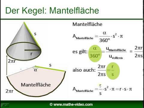 Kegel - Volumen - Mantelfläche - Oberfläche