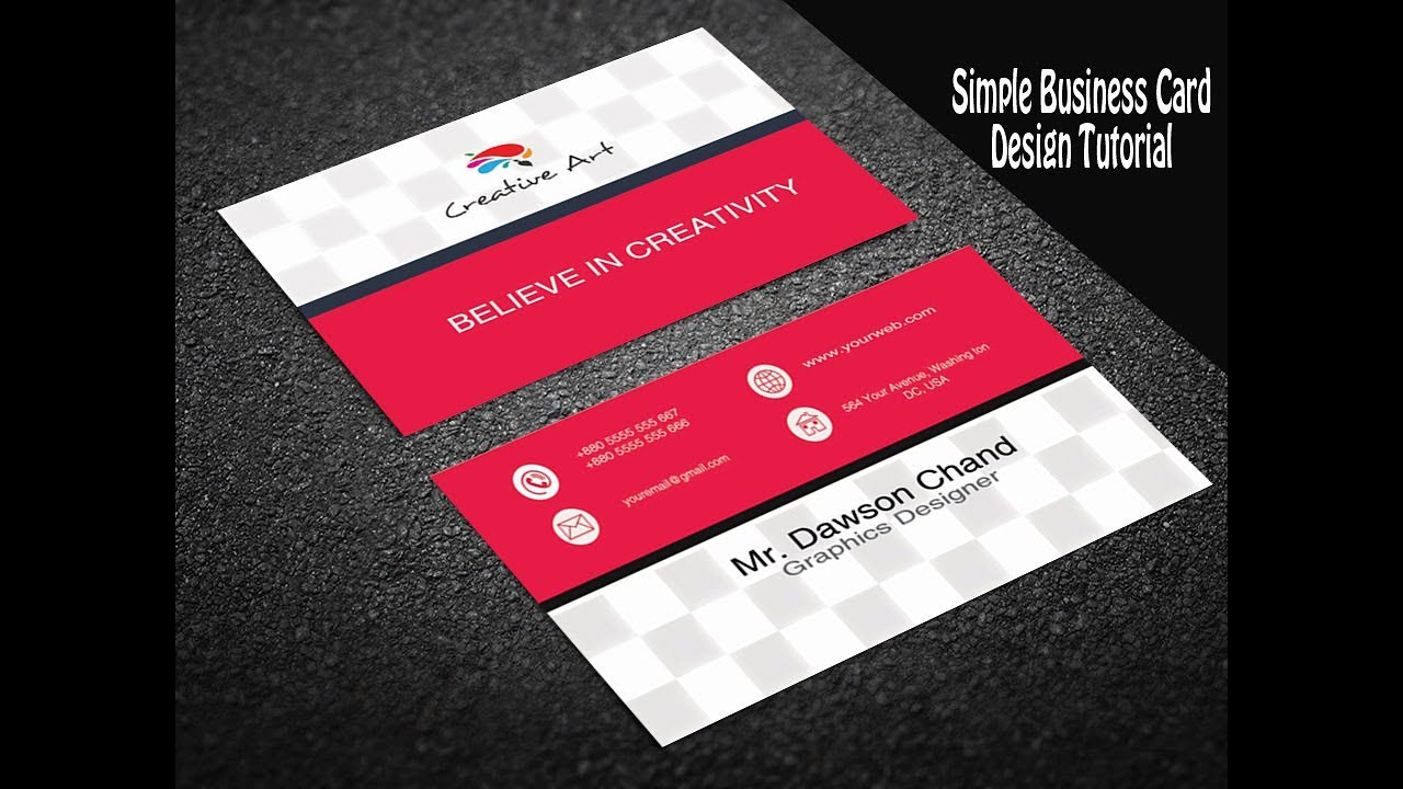 Simple elegant business card design in photoshop photoshop method simple elegant business card design in photoshop reheart Images