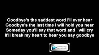 Celine dion Goodbyes karaoke