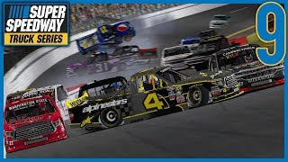 THE TOP 8 CRASH! WHO CAN GET BACK GOING? - iRacing Superspeedway Truck Series |Round 9/24|