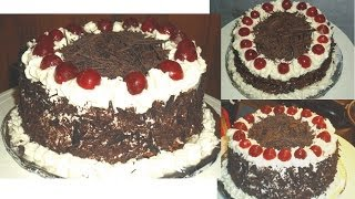 Black Forest Cake, Black forest cake recipe, Chocolate Cake