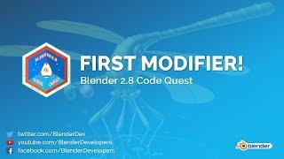 First Modifier in Blender 2.8! - Code Quest
