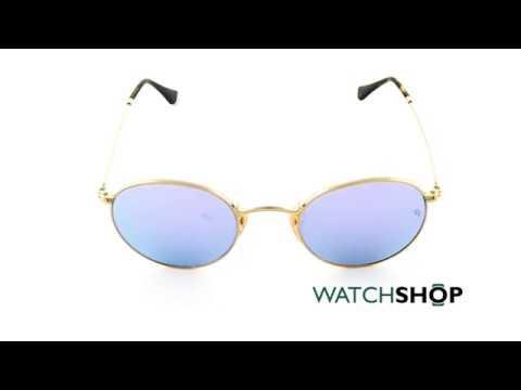 a6b7f813cd6b Ray-Ban Men s Round Flat Lens Sunglasses (RB3447N-001 8O-47) - YouTube