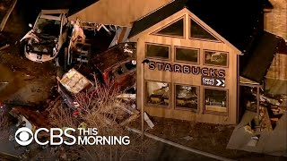 Pickup truck slams into Illinois Starbucks, injuring five people