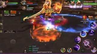 CoL, Team Raid Burning Skyblaze 2nd boss with 3 Men run!!! So Easy...