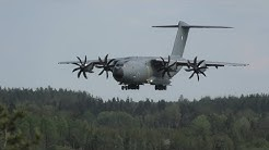 4K | French Air Force Airbus A400M at Turku Airport