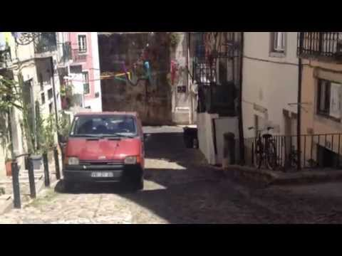 Tour of Small House in Alfama District of Lisbon, Portugal