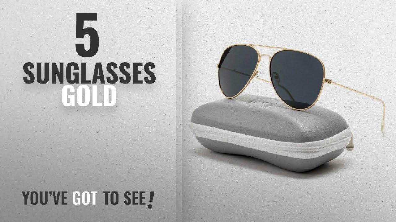 Top 10 Sunglasses Gold [ Winter 2018 ]: WearMe Pro – Premium Classic Fashion Design Polarized Lens
