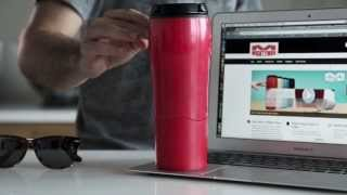 Mighty Mug Biggie SS: Stainless Steel Silver video