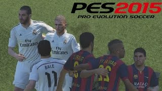 PES 2015 Gameplay PS4 - Real Madrid Vs Barcelona - simulación del clasico