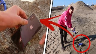 HO TROVATO UN IPHONE X NELLA SABBIA CON IL METAL DETECTOR?