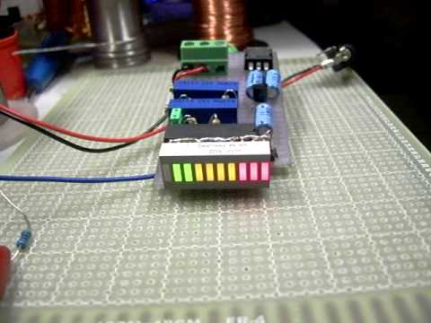 Car Battery Voltage >> LM3914 Battery Monitor - YouTube