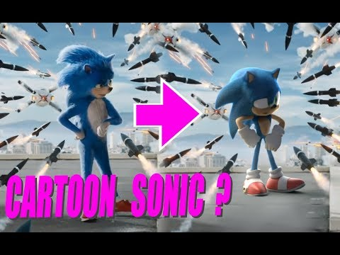 Sonic the Hedgehog trailer gets re-made in cartoon style - CNET